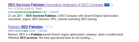 Search Result and Google 1+
